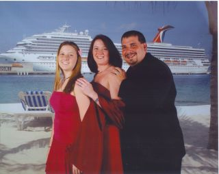 Kayla, Kimberly, and Michael Taken on the Carnival Glory in November of 2004